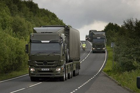 Convoy of nuclear warheads on UK public road